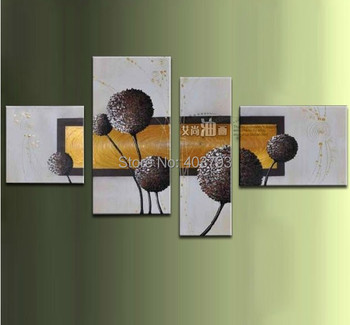modern abstract fashion oil painting on canvas simple green abstract flower paintings no framed free shipping