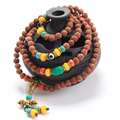 Exquisite Bead Bracelets 2016 DIY Handmade Natural Rudraksha Beads Bracelet Necklace Women Men Jewelry 108 Buddha Bracelets