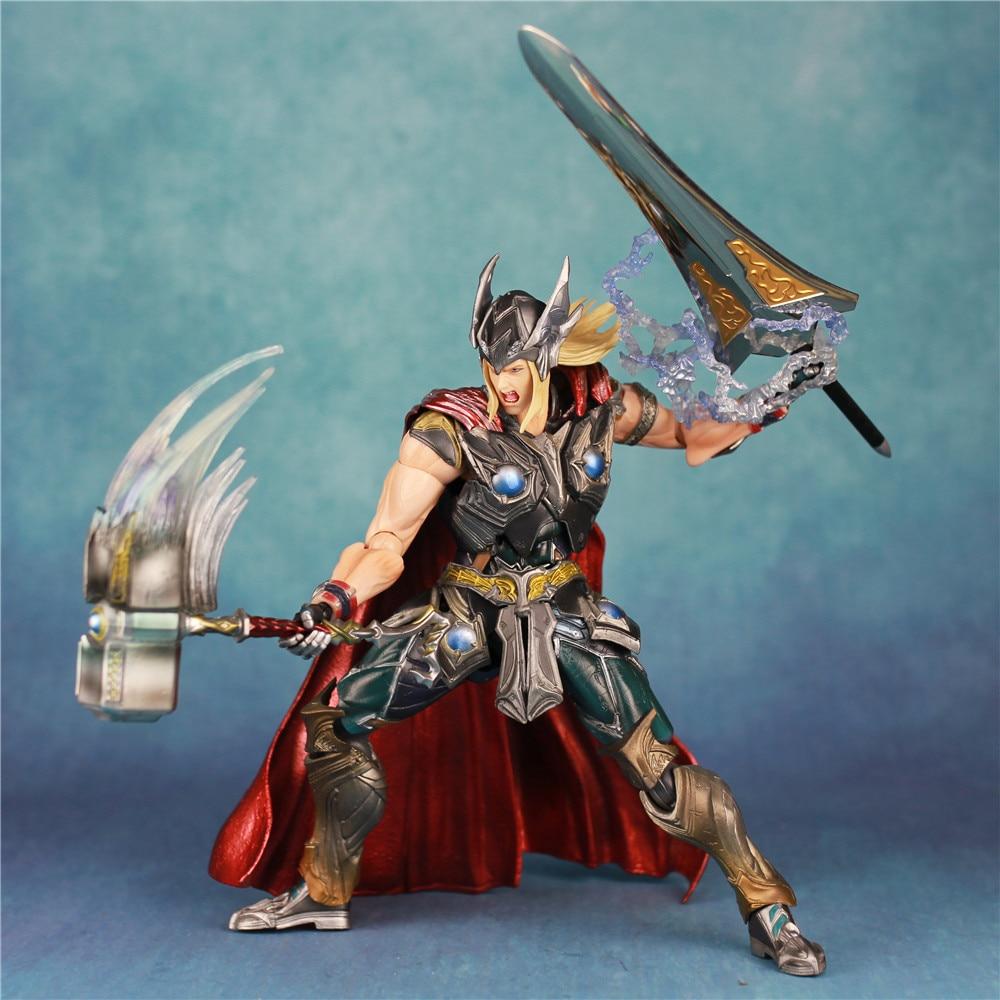 Marvel 12 THOR Action Figure KOs PLAY ARTS PA KAI 27cm 1/6 Model Hot Toys Super Hero Legends Doll Ragnarok Sword Mjolnir Hammer