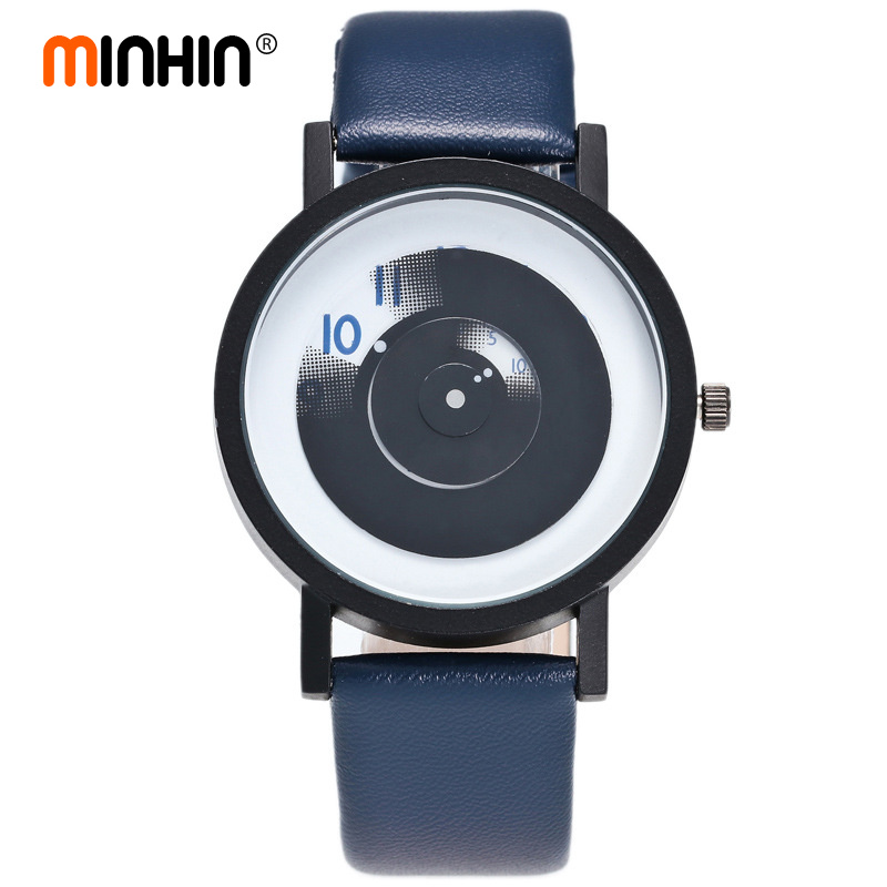 MINHIN Students Creative Watches Lover's Couple Quartz Wristwatches Gift Stylish No Needle Fashion Design Women Sports Watches