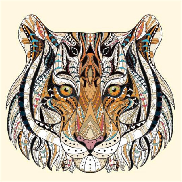 T shirt patch diy fashion icon tiger 85mm pattern brand logo iron on patches for clothing