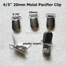 100 stks/partij 4/5 2.0 CM metalen haak baby dummy fopspeen houder clips jarretel fopspeen clip voor 20mm lint