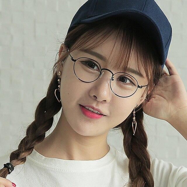 retro round transparent glasses for men women high quality metal frame computer glasses 2017 womens frames