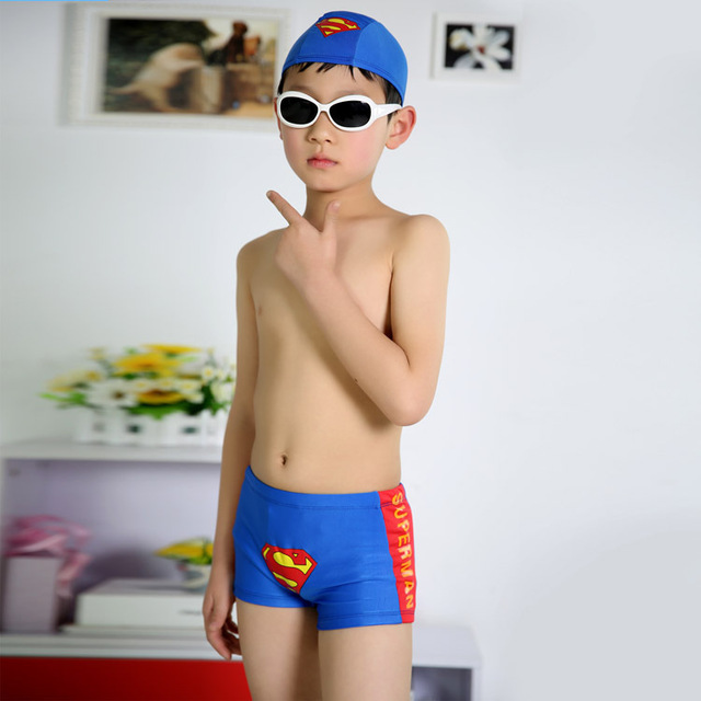 Blue Boys Swimwear Baby Boy Swimsuit Suit Red Speedo Swimsuit With Cap Children Boys Swimming Briefs