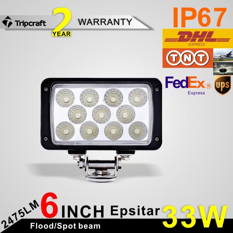 ФОТО Freeshipping! 6 inch 33W LED Work Light Bar Flood/Spot Beam Fit car Truck Vehicle Driving Boat 10V 30V