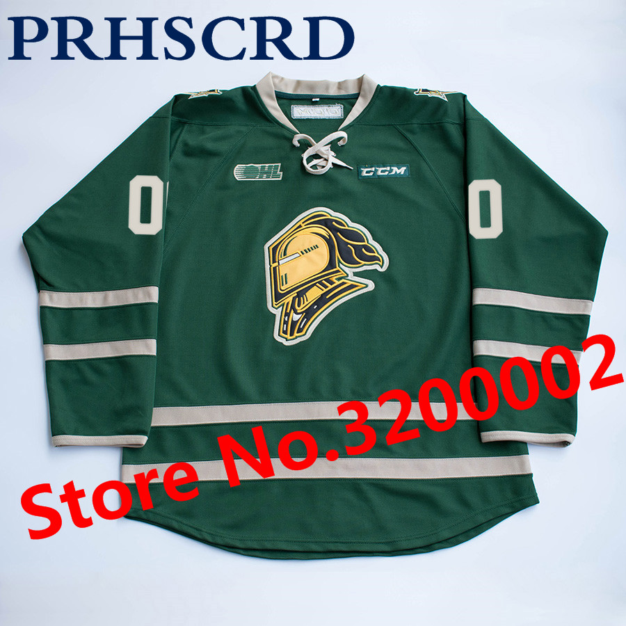 London Knights 1 Tyler Parsons Stitched Hockey JerseyLondon Knights 1 Tyler Parsons Stitched Hockey Jersey