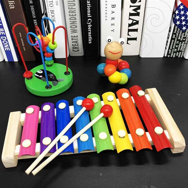 Деревянные игрушки Монтессори Детские Обучающие Детские игрушки Дети Детские красочные деревянные блоки обучающая игрушка LYQ