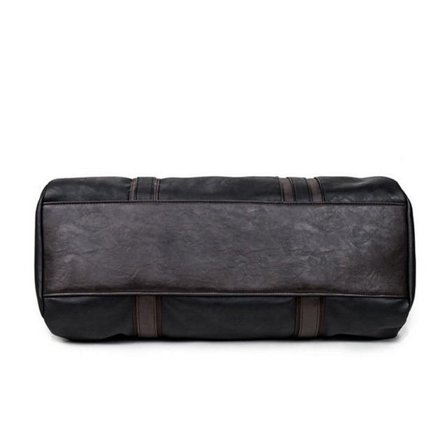 MAGIC UNION Weekender Oil Wax Leather Handbags for Men Travel Duffel Bag Portable Shoulder Bags Men's Fashion Carry On Bag 3