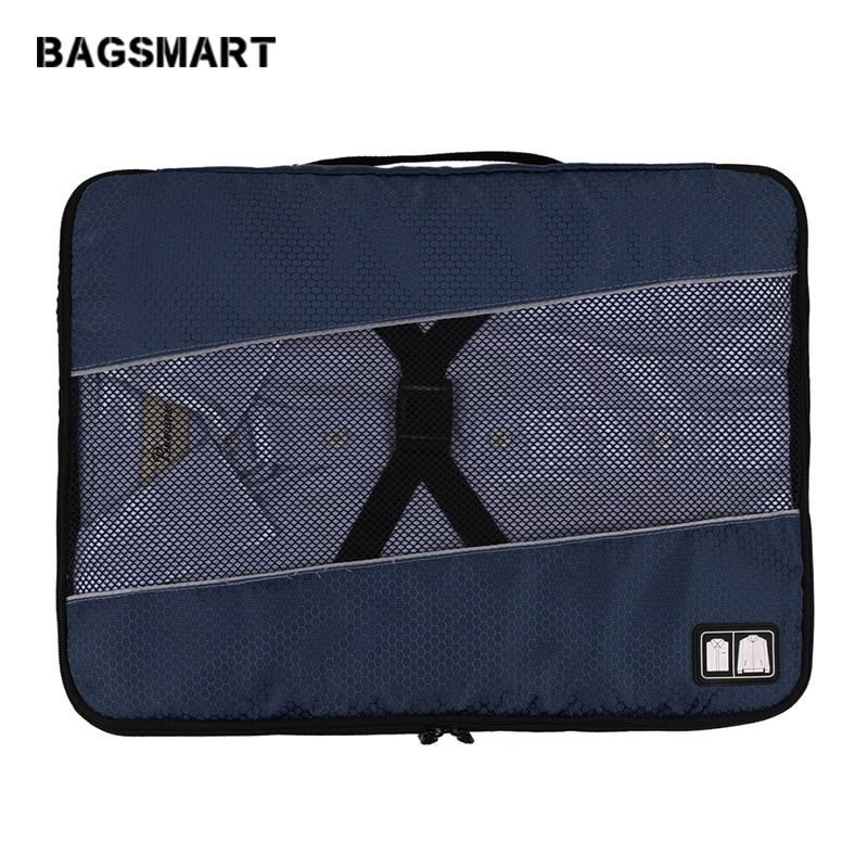 BAGSMART 19 цаляў Lightweight багажу Упакоўка сумкі касцюм перамяшчэння мяшка адзення чахол для захоўвання ўпакоўкі Кубік Малы Дарожная сумка для кашуль
