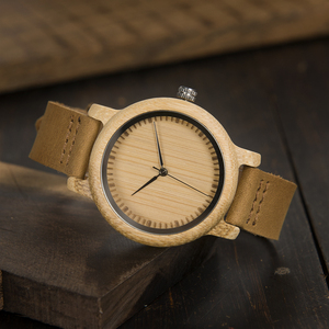 Image 5 - BOBO BIRD WA15RU Casual โบราณไม้ไผ่ไม้นาฬิกาผู้ชายสายหนังนาฬิกาแบรนด์หรู OEM