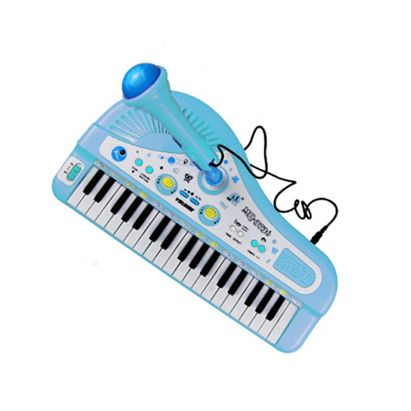 37 Keys Electone Mini Electronic Keyboard Musical Toy Kids Educational Toys  with Microphone Piano Baby Toys Kid Birthday Gifts
