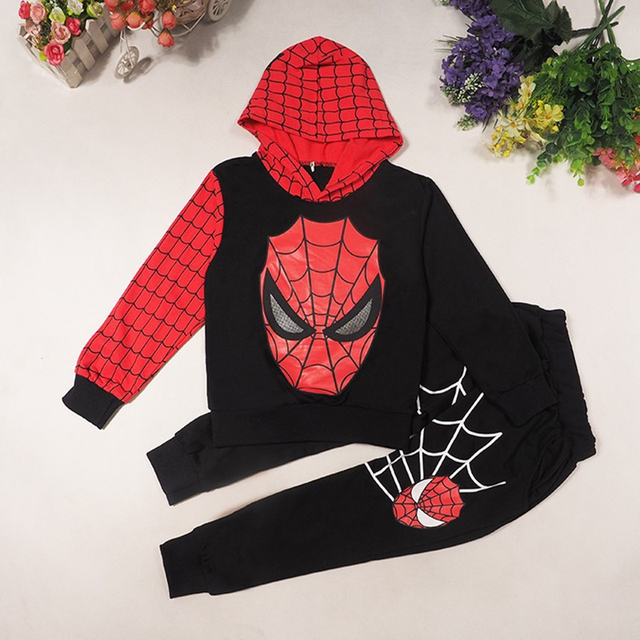 New Spiderman Baby Boys Clothing Sets Cotton Sport Suit For Boys Clothes Spring Spider Man Costumes KIds Clothes Three piece set
