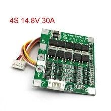 4S 30A 14.8V Li ion lityum 18650 pil BMS paketleri PCB koruma levhası dengesi entegre devreler elektronik modülü