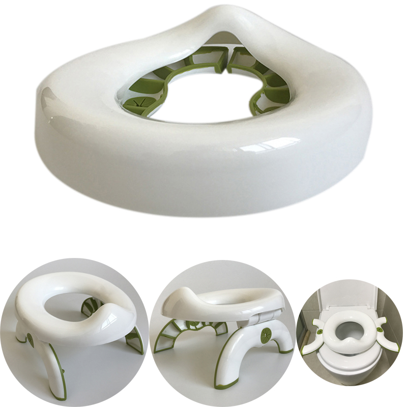 New 2 in 1 Portable Training Toilet Seat Kids Multifunctional Foldable Travel Potty Rings for Baby Infant Toddle | Happy Baby Mama
