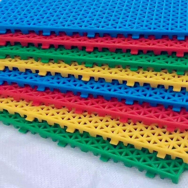 2019 Brand New Non-slip Kindergarten Suspended Mat  Outdoor Removable  Assembled Basketball  Plastic Floor Mat