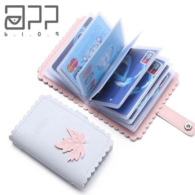 APP BLOG Brand 26 Bits Function Women Men Card Holder Case ID Credit Business Passport Cover Cards Bag Carteira Feminina Mujer