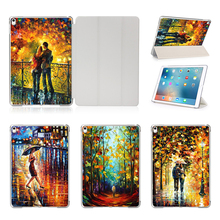 Print Lovers in love Oil Portray Cowl Case For Apple iPad Professional 9.7″ For iPad 12.9″ Pill Protecting Shell