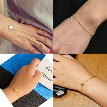 Fashionable Gold Color Bracelet and Bangle for Woman Adjustable Simple Bracelets Jewelry  pulseras mujer Party Gifts 2019