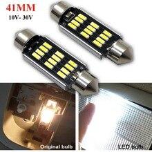 10x AC/DC12-24V 31/39/41mm C5W C10W CANBUS NO Error Auto Festoon Light 12SMD 4014 LED Car Interior Dome Lamp Reading Bulb White