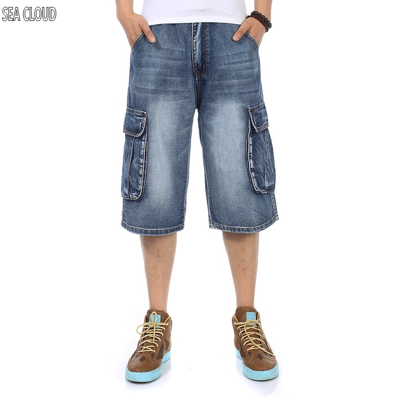 82 Free shipping military plus size mens clothing casual short trousers multi-pocket mens shorts hiphop mens jeans