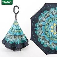 Güzel Çiçek Şemsiye Rüzgar Geçirmez Çift Katmanlı Siyah Şemsiye Ters Ters Şemsiye Kadınlar Dayanıklı Sunny Çocuk şemsiye #15