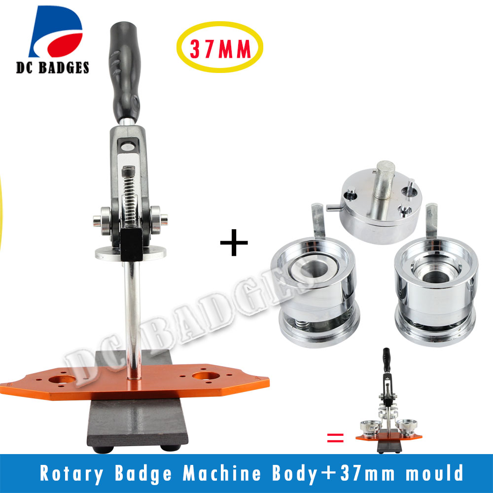 37mm Metal Rotatory Button Badge Press Machine including the mould source factory new button manufacturer badge machine including 37 mm mold more durable metal slides