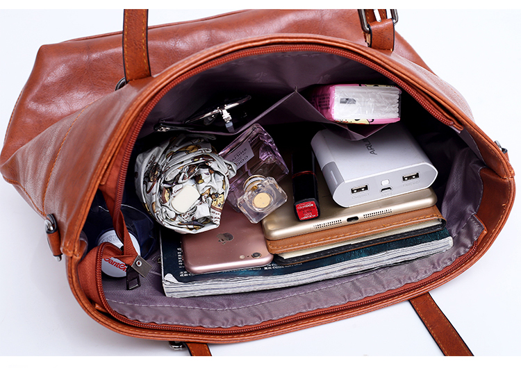 plutônio do vintage 4 pces bolsa de alça feminina
