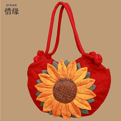 XIYUAN BRAND popular and high quality women floral zipper soft National Embroidery linen Shoulder Hand bags tote shopping girls new national embroidery bags high quality women fashion shoulder