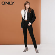 ONLY Women's High-rise Brushed Slim Fit JeansThermal & comfortable Leopard print|118432501(China)
