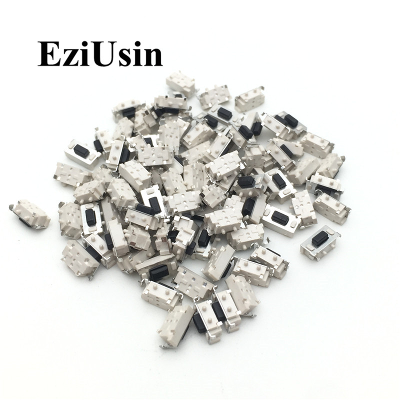 EziUsin 100pcs Micro Tact Switch Touch 3*6*3.5 3x6x3.5 SMD For MP3 MP4 Tablet PC Button Bluetooth Headset Remote Control