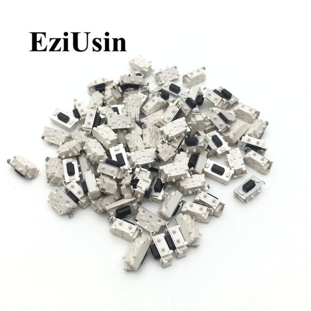 Eziusin 100 pçs micro tato interruptor de toque 3*6*3.5 3x6x3.5 smd para mp3 mp4 tablet pc botão fone ouvido bluetooth controle remoto