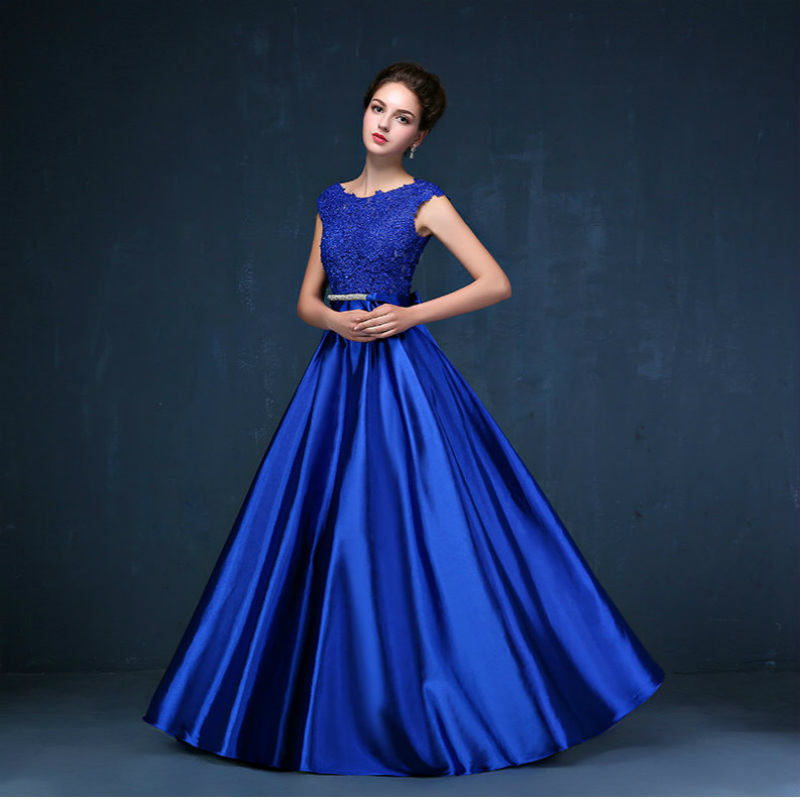 CX SHINE Custom size! Elegant lace long Evening dress tanpa lengan - Gaun acara khas - Foto 6