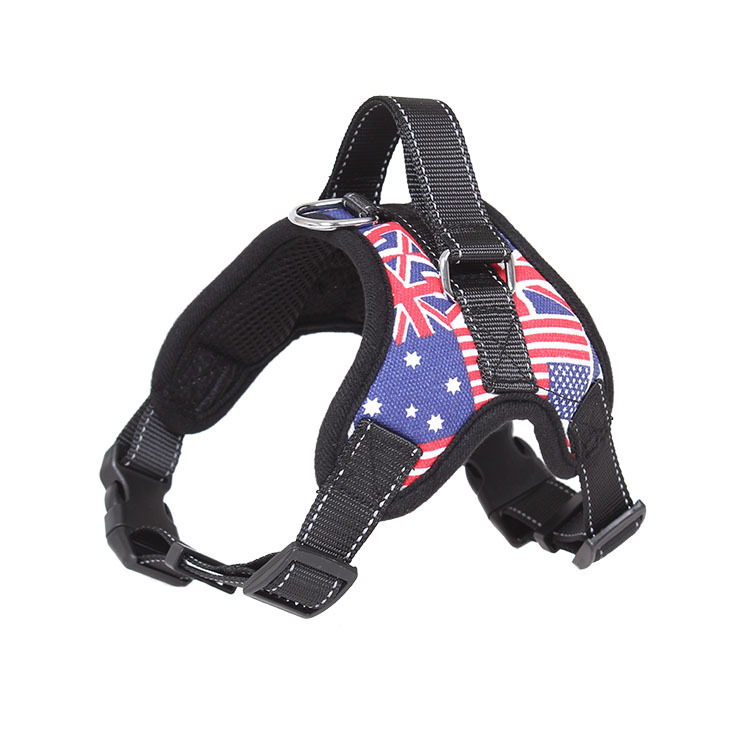 2019 Nylon Heavy Dog Pet Harness Collar Extra Big Large Medium Small Dog Harnesses Vest Leash Rope Set Husky Dogs Supplies in Sets from Home Garden