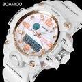 BOAMIGO Брендовые Часы женские спортивные часы Модные Дамские Кварцевые наручные часы белые плавательные цифровые ударные Часы Relogio Feminino