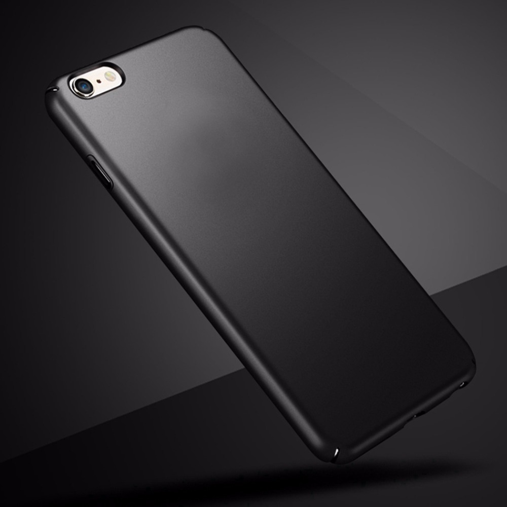 Fashion Clear Luxury Hard Plastic Plain Case For Iphone 6 Plus 6S 360 Full Cover Back Coque In Fitted Cases From