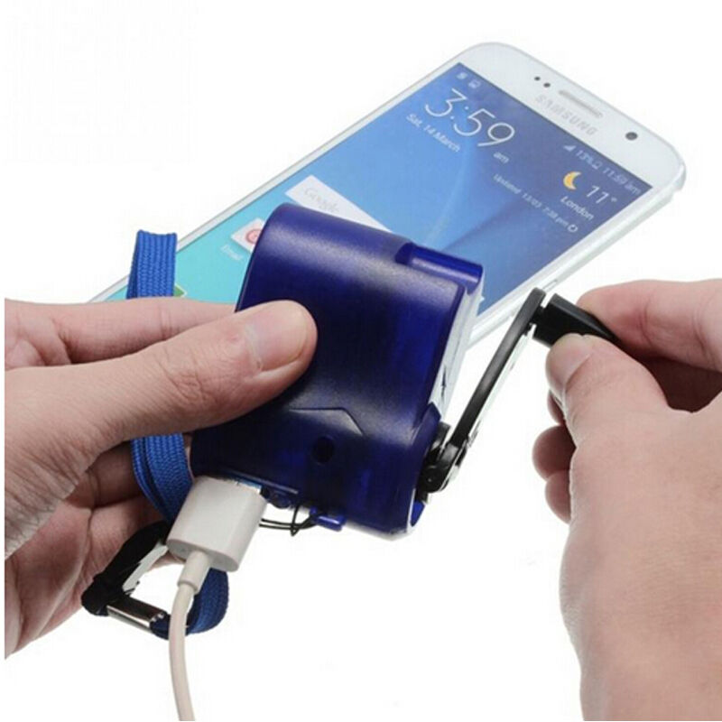 Hand-winding Emergency Charger Portable Dynamo Hand Crank USB  For Cell Phone/MP3 Player PDA Phone Power Bank Emergency Charging