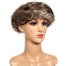 Мода Дамы Мужчины Искусственного Меха Hat Зимние Earwarmer Лыжный Русские Женщины Cap