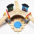 2017 Лучший Дети Рождество и Новый Год подарок Образования DIY деревянные toys Томас и Друзья поезд железной дороги автостоянка дом детские игрушки
