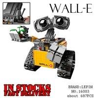 LEPIN 16003 687Pcs Idea Robot WALL E Model Building Kits Anime Figures Blocks Bricks Toys For