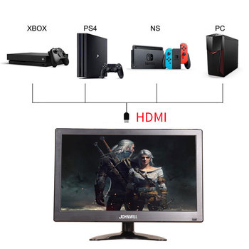 "12"" inch LCD Portable HDMI Monitor for Macbook Pro VGA Interface 1920x1080 Gaming Display For Home Security System PS4 Xbox360 1"