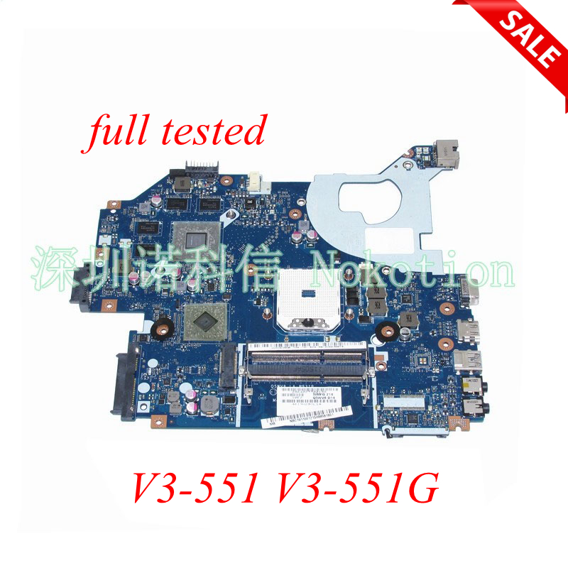 NOKOTION laptop motherboard for Acer V3-551 V3-551g NBC1811001 Q5WV8 LA-8331P DDR3 Radeon HD 7670M main board full tested original for acer for aspire v3 551 laptop motherboard fs1 q5wv8 la 8331p 100% tested good