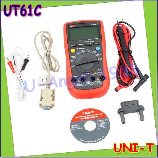 Wholesale 1pcs UNI-T UT-61C Modern Digital Multimeters UT61C AC DC Meter Drop free shipping  цены