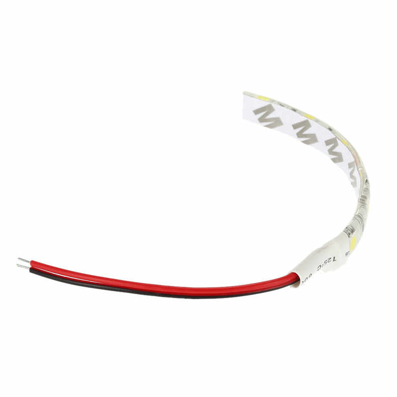 10cm 6LED 5050 beyaz araba motosiklet esnek şerit araba şerit ışık su geçirmez alüminyum diyot lambası araba LED ışık şeridi