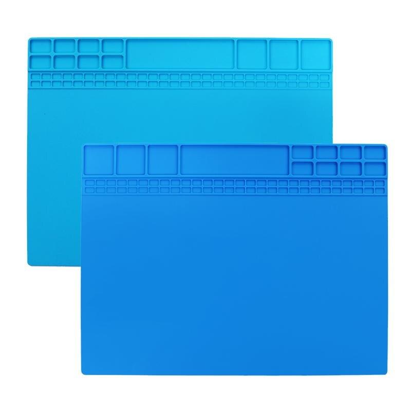 Heat Insulation Working Mat Heat-resistant BGA Soldering Station Repair Insulation Pad Maintenance Platform 405 X 305mm