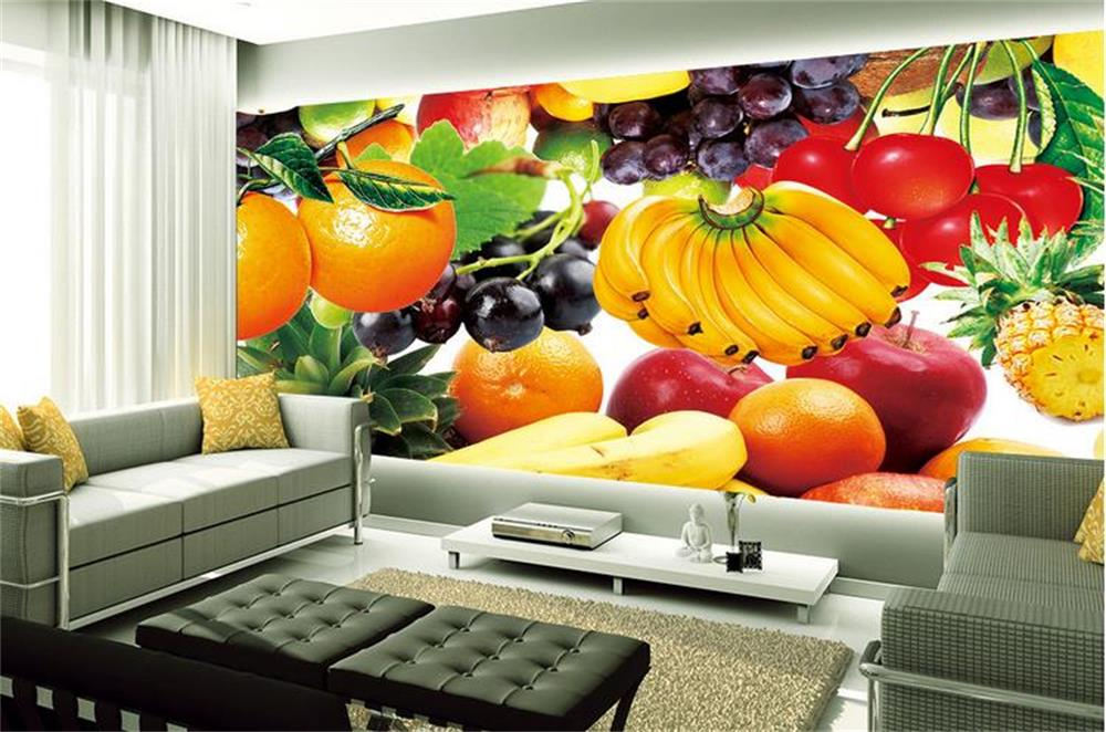 3d wallpaper ceiling custom photo wall paper fresh fruit for Ceiling mural in a smoker s lounge