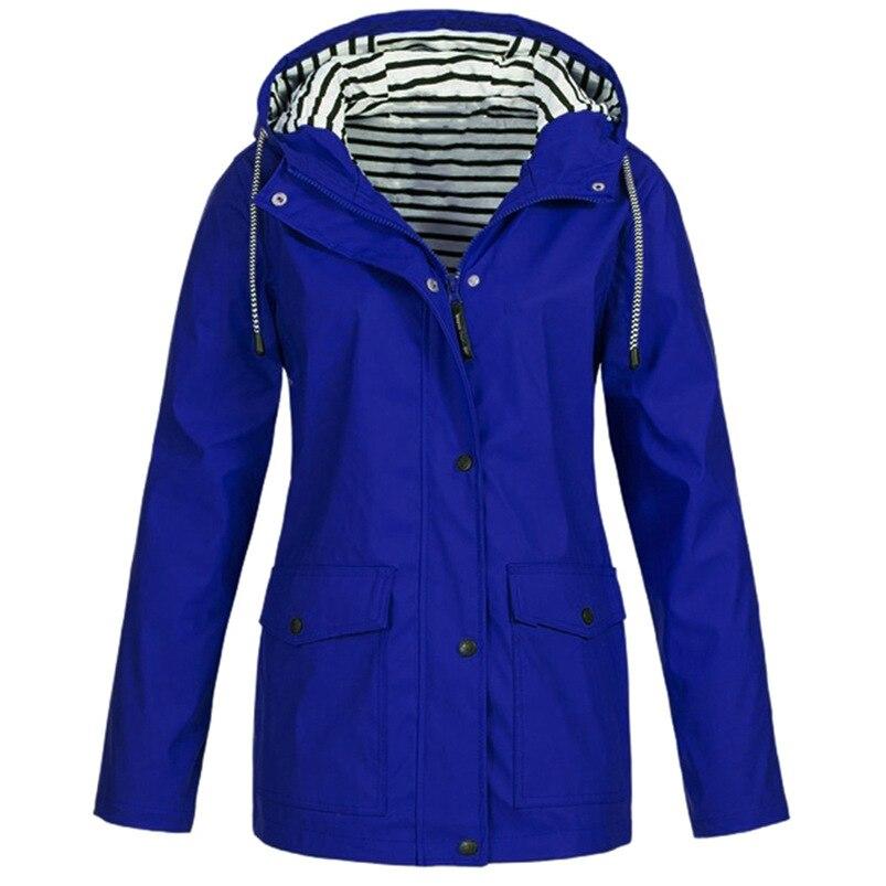 Rain Coat Women Plus Size Coat 2018 Long Sleeve Waterproof Jacket Hooded Raincoat Jacket Women Clothes Warm Coat Girl #O11 (24)