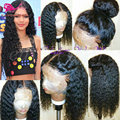 Heat Resistant Lace Front Ponytail Wigs Black Synthetic Lace Front Wig With Baby Hair Synthetic Curly Lace Wigs For Black Woman