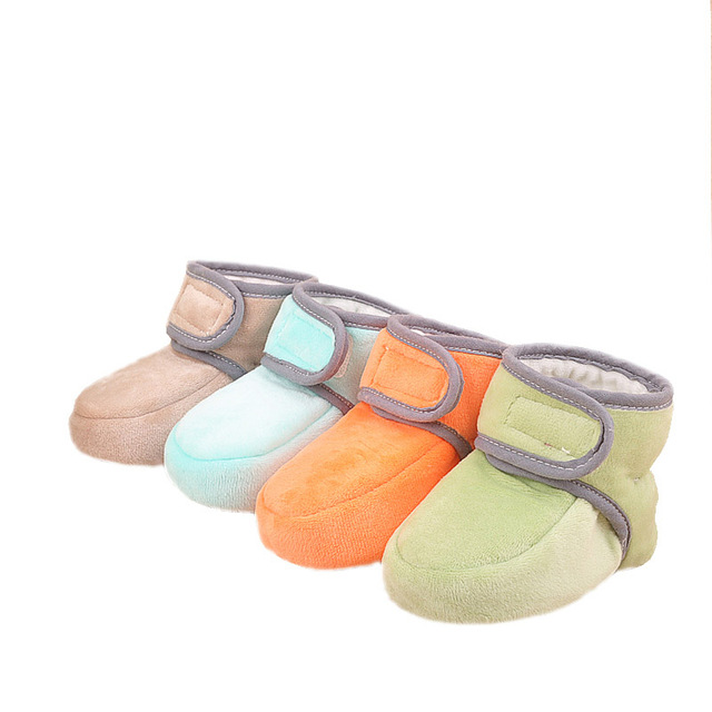 Baby Winter Warm Shoes Cute Boys Girls Cotton Padded Boots Newborn Infant Soft Warm First Walkers Toddlers Fleece Shoes