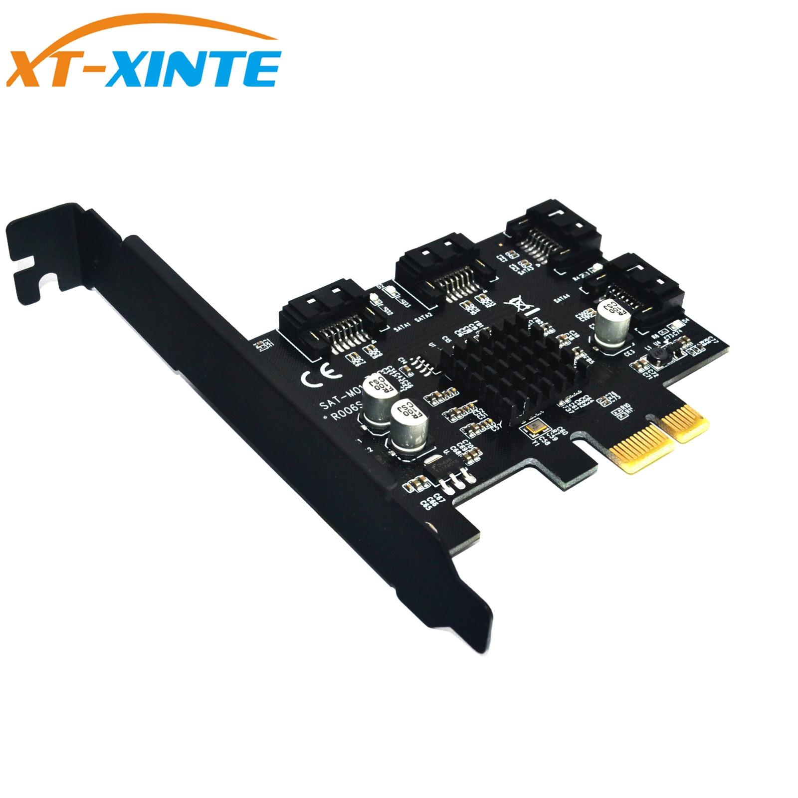 88SE9215 4 Ports SATA 6G PCI Express Controller Card PCI-e To SATA III 3.0 Converter Support Low Profile Bracket SATA3.0 цена и фото