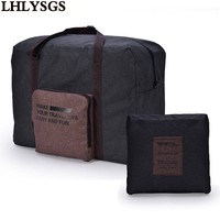 LHLYSGS Brand High Quality Folding Travel Bag Large Can Be Set Into Suitcase Trolley Bag Waterproof